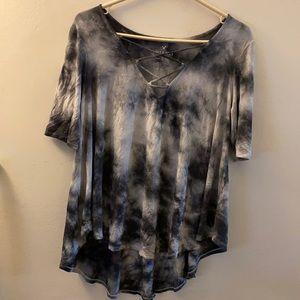 Soft and Sexy AE Crisscross tee shirt
